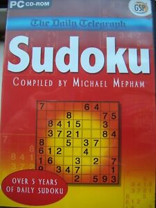 THE DAILY TELEGRAPH---SUDOKU---BY MICHAEL MEPHAM---PUZZLE GAME---PC CD---NEW