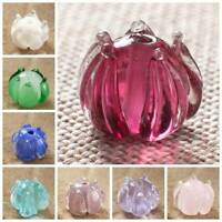 5pcs 12x10mm Handmade Lampwork Glass Flower Bud Loose Beads Jewelry Making DIY