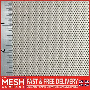 1mm Stainless Steel (1mm Hole x 2mm Pitch x 1mm Thickness) Perforated Mesh Sheet