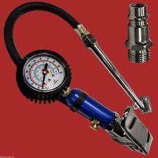 KRAFT Druckluft-Reifenfüller mit 50mm Manometer +Tankstellenstecker +Ablassknopf