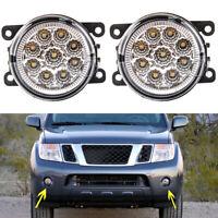 For Nissan Pathfinder R51 3//2010-/> Front LED fog lights /& DRL pair left /& right