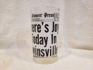 VINTAGE Minnesota Twins 1965 World Series Joy In Twinsville Glass Tumbler, MINT!