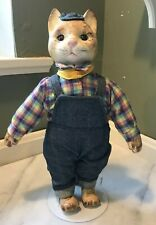 UNIQUE BOY CAT DOLL! Soft body, Porcelain head,hands,feet, Glass eyes -ADORABLE!