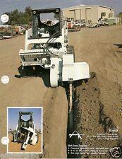 Equipment Brochure American Trencher Skid Steer Hoe Attachment 4 Item E2548