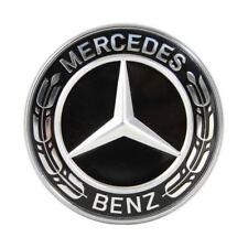 ORIGINALE MERCEDES-BENZ EMBLEMA PER COFANO NERO C CLASSE E W205 204 213 238