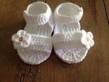 20067845a Sandalia Blanca Talla 0 3 Meses Zapato Alpargatas Patucos Bebe Recién Nacido