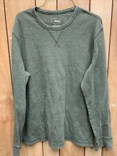 Sonoma Men's Olive green Thermal Long Sleeve Tshirt Size L Large