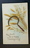1922 Fultonham To Schenectady NY Thanksgiving Greetings Embossed Postcard Cover