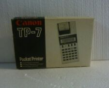 Vtg Pocket Printer Canon Tp-7 Led Printing Calculator With Box S-10