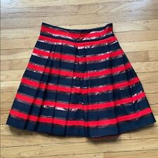 MBMJ Marc Jacobs Red Black Copper Striped Mini Party Skirt