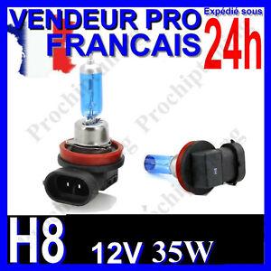 AMPOULE H8 XENON 35W LAMPE POUR VOITURE FEU SUPER WHITE PHARE 12V PLASMA 6500K