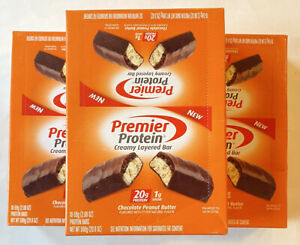 Premier Protein Bar 20g Protein Chocolate Peanut Butter ~ 50 Bars ~ BB 04/2021