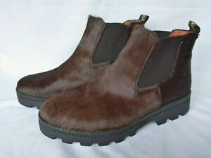Penelope Chilvers ANKLE BOOTS  ALPINE BROWN PONY SKIN  Size UK 6  Euro 39 NEW