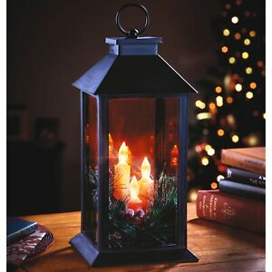 Electric Candle Lantern Home Decoration Christmas Xmas Light Table Lamp Ornament