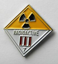 RADIO ACTIVE RADIOACTIVE DOT WARNING SIGN NOVELTY LAPEL PIN BADGE 1 INCH