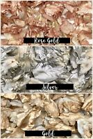 ROSE GOLD SILVER Biodegradable WEDDING CONFETTI FLUTTER FALL Real Throwing Petal