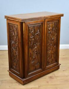 Marble Top Teak Oriental Style Bar/Cabinet