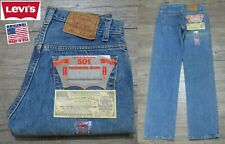 NEW VINTAGE 1987 ORIGINAL LEVI'S 501 RED TAB DENIM JEANS USA RARE 28x32