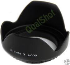 58mm lens hood for Canon Rebel XT XTi 350D 300D 20D 10D