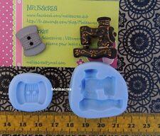 Moule Silicone machine à coudre, bobine  fimo, porcelaine froide, résine, plâtre