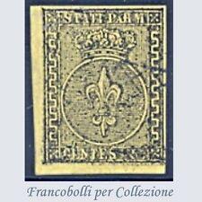 Antichi Stati Italiani Parma 5 cent. giallo n. 1 Usato