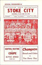 STOKE CITY V WEST BROMWICH ALBION ~  7 MARCH 1964