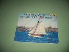 Vintage Read & Coloring Book 1976 Ships of American Revolution Bellerophon
