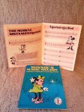Rare Walt Disney Minnie's Magic Melody a melody MUSIC BOOK very young, KIDS 4-7