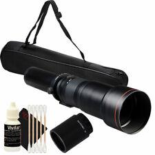 650-1300mm Telephoto Lens w/ 2x Teleconverter =650-2600mm for DSLR Camera