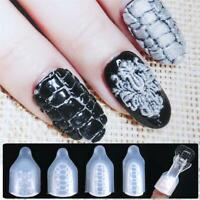 3D Flower Stencil  DIY Manicure Nail Silicone Mold Nail Art Stamping
