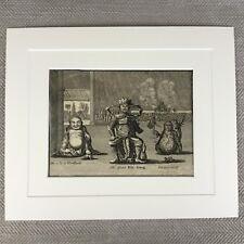 Rare Chinese Print 18th Century Engraving G. Child Deity Gods Immortals of China