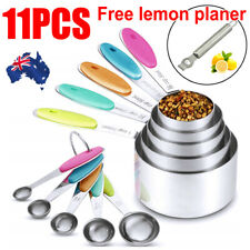 11PCS Baking Spoon Stainless Steel Kitchen Baking Teaspoon Measuring Cups Gadget