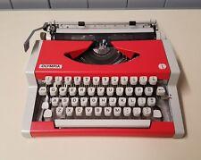 Vintage ORANGE * Olympia/Olympiette  Portable Typewriter - Very Nice Condition!