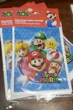 25 Super Mario Bros Party Favor Bags Birthday Loot Bags Treat Candy Bags