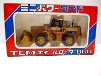 Vintage  Shinsei  Mini Power Wide  'TCM Wheel Loader 860'  Die-Cast  1/50