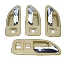 Door Handle Interior Chrome & Beige Front & Rear Set of 4 for 94-97 Accord NEW