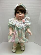 """21"""" Victoria Rose Bisque Baby Doll Artist Crafted Reproduction Elaine Campbell"""