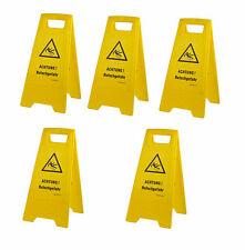 5 Stück Warnschild-Vorsicht Rutschgefahr-Vorsicht Glatt-Warnaufsteller Schild