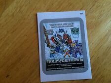 TOPPS WACKY PACKAGES 2015 SILVER BORDER STICKER TRANSFOAMERS TRANSFORMERS 5 107