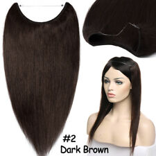 100% Remy Human Hair Extensions Helo Secret Invisible Wire Hidden Crown Hair MY