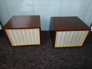 GDR bookshelf  speaker full range REMA 2060 - Isophon inside wooden cabinet RAR