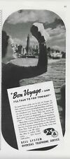 1938 Bell System Overseas Telephone Ship-to-Shore Service Original Print Ad