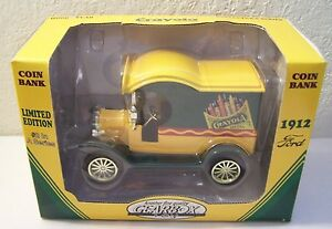 1998 Ltd Ed Crayola Gearbox 1912 Ford Delivery Truck #2 Die Cast Bank
