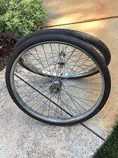 TR2 Schwinn Tandem front & rear rim set Single Speed Wheel tires 26 x 1 3/4 S7
