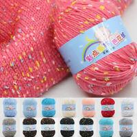 1X Cotton Hand Knitting Yarn DIY Weave Thread For Baby Blanket Thread Crochet