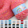 1X Cotton Hand Knitting Yarn DIY Weave Thread For Baby Blanket Thread Crochet