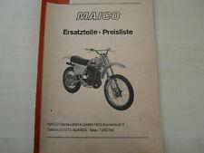 Maico MC 250 , MC 400, MC 440 Typ Ersatzteil- Preisliste