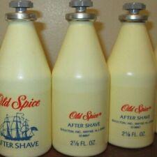 Lot of 3 Vintage Original Scent Shulton Old Spice 2 1/8  oz After Shave - FULL