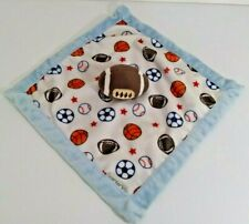 New listing Carters Infant Baby Football Sports Lovey Security Blanket Blue White