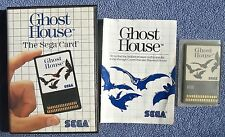 Sega Master System SMS - Ghost House (Sega Card) - CIB Complete - tested working